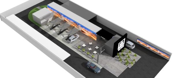 Proyecto arquitectonico franquicia de auto lavado profesional